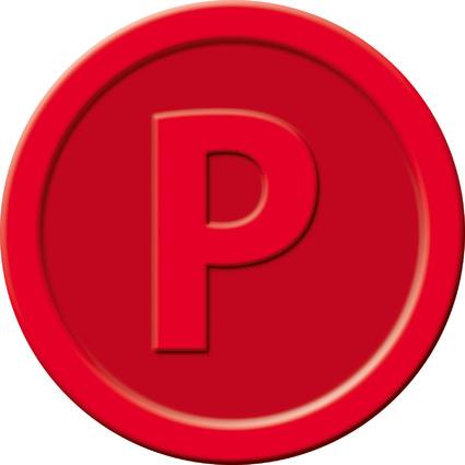 """sigel Wertmarken """"Pfand"""", aus Kunststoff, rot"""