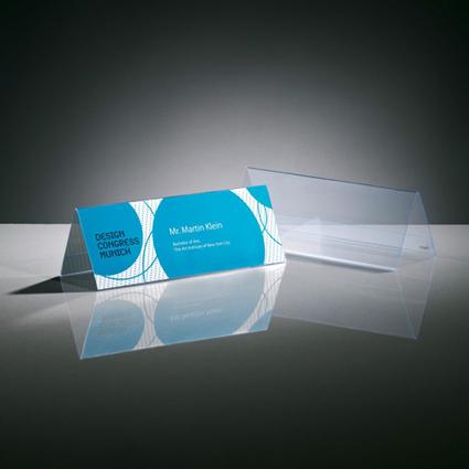 sigel Tischaufsteller, Hartplastik, 240 x 90 mm, Dachform