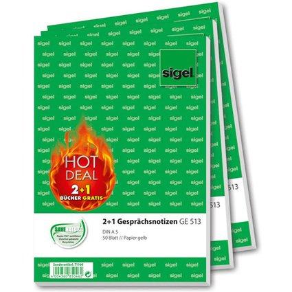 "sigel Formularbuch 2+1 Aktion ""HOT DEAL"" - ""Gesprächsnotiz"""