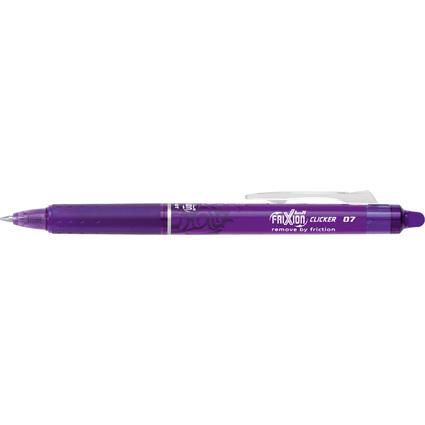 PILOT Tintenroller FRIXION BALL CLICKER 07, violett