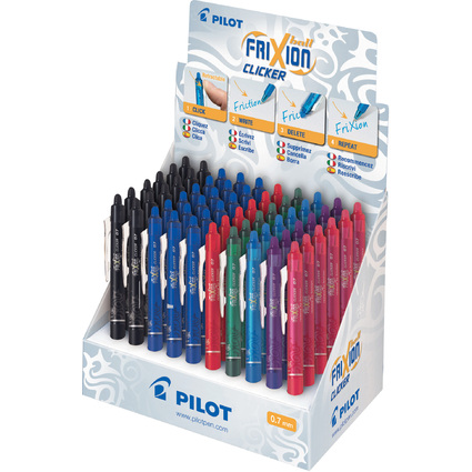 PILOT Tintenroller FRIXION BALL CLICKER 07, 60er Display
