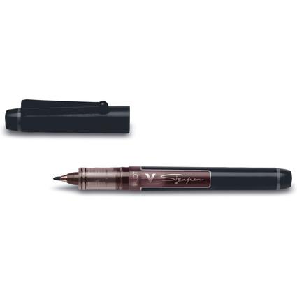 PILOT Faserschreiber V Sign Pen, schwarz,Strichstärke: 0,6mm