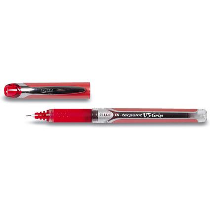 PILOT Tintenroller Hi-tecpoint V5 Grip, Strichfarbe: rot