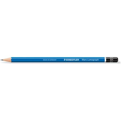 STAEDTLER Bleistift Mars Lumograph, Härtegrad: 6H