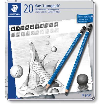 STAEDTLER Bleistift Mars Lumograph, 20er Metalletui