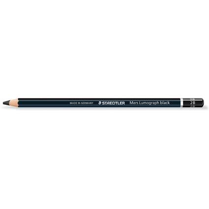 STAEDTLER Bleistift Mars Lumograph black, Härtegrad: 2B