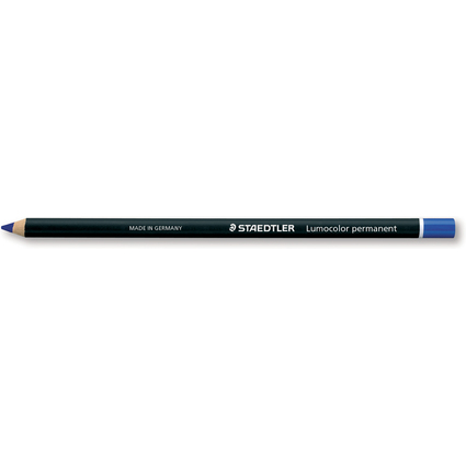 STAEDTLER Trockenmarker Lumocolor permanent glasochrom, blau
