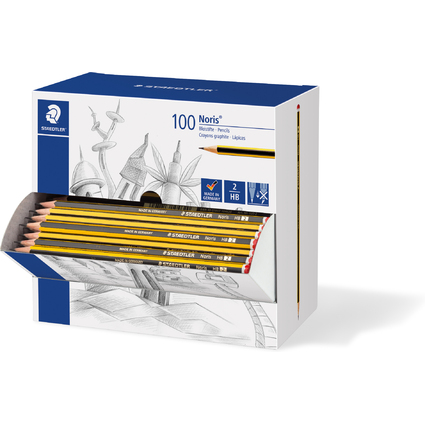 STAEDTLER Bleistift, sechseckig, 100er Display