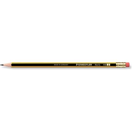 STAEDTLER Bleistift Noris mit Radierer, sechseckig