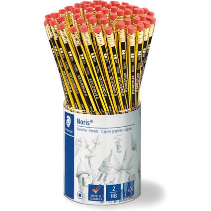 STAEDTLER Bleistift Noris mit Radierer, 72er Köcher