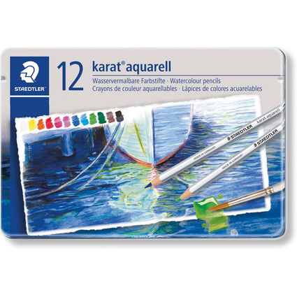 STAEDTLER Aquarellstift karat, 12er Metalletui