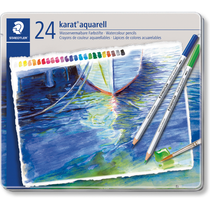 STAEDTLER Aquarellstift karat, 24er Metalletui