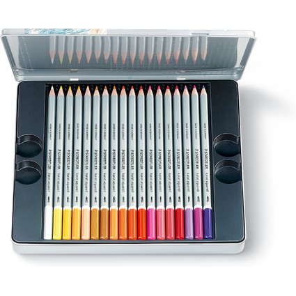 STAEDTLER Aquarellstift karat, 36er Metalletui
