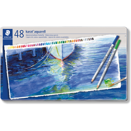 STAEDTLER Aquarellstift karat, 48er Metalletui