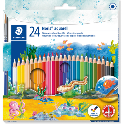 STAEDTLER Aquarellstift Noris Club aquarell, 24er Kartonetui