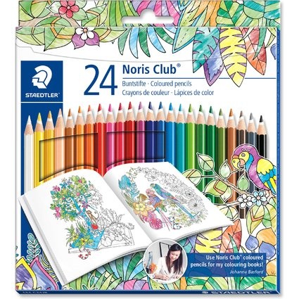 STAEDTLER Buntstift Noris Club, Johanna Basford Edition,24er
