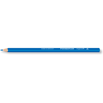 STAEDTLER Dreikant-Buntstift ergosoft, dreieckig, blau