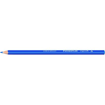 STAEDTLER Dreikant-Buntstift ergosoft, dreieckig, kobaltblau
