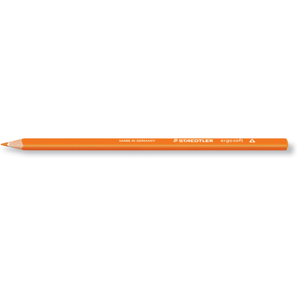 STAEDTLER Dreikant-Buntstift ergosoft, dreieckig, orange