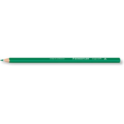 STAEDTLER Dreikant-Buntstift ergosoft, dreieckig, grün