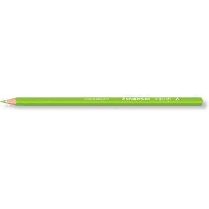 STAEDTLER Dreikant-Buntstift ergosoft, dreieckig, gelbgrün