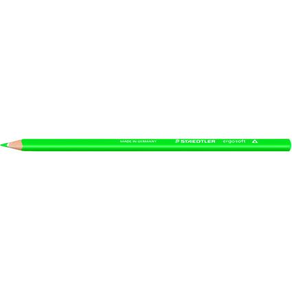 STAEDTLER Dreikant-Buntstift ergosoft, dreieckig, saftgrün