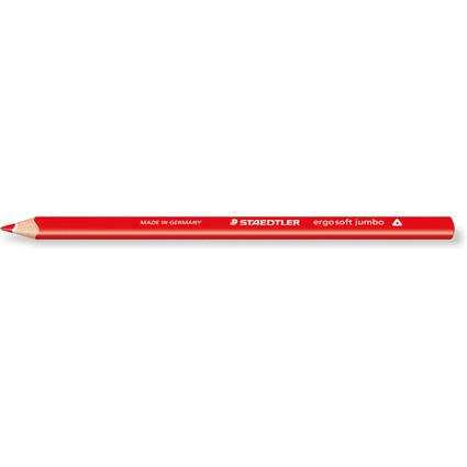 STAEDTLER Buntstifte Ergosoft jumbo, rot, dreieckig