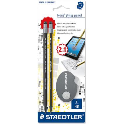 STAEDTLER Eingabestift-Set Noris Stylus WOPEX + Radierer