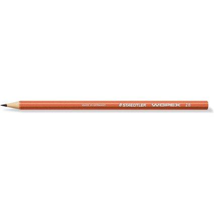 STAEDTLER Bleistift WOPEX, Härtegrad: 2B, rot