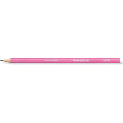 STAEDTLER Bleistift WOPEX neon, Härtegrad: HB, neon-pink