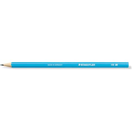 STAEDTLER Bleistift WOPEX neon, Härtegrad: HB, neon-blau