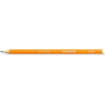 STAEDTLER Bleistift WOPEX neon, Härtegrad: HB, neon-orange