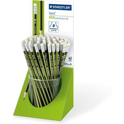 STAEDTLER Bleistift Noris eco WOPEX mit Radierer, Display