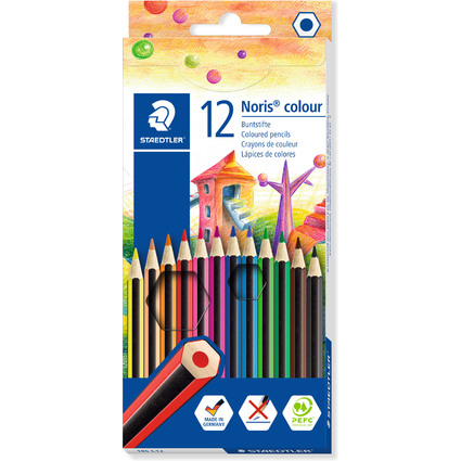 STAEDTLER Buntstift Noris Colour WOPEX, 12er Kartonetui