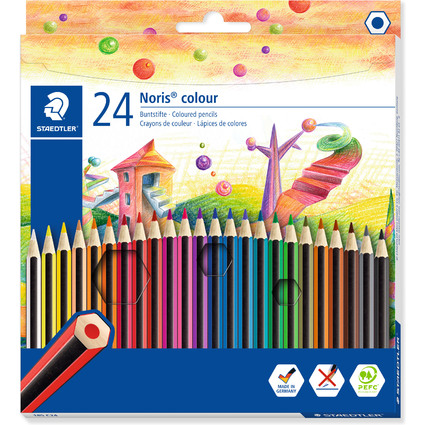 STAEDTLER Buntstift Noris Colour WOPEX, 24er Kartonetui
