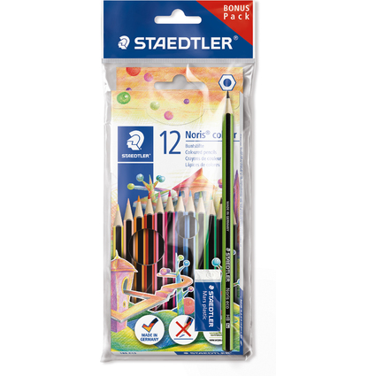 STAEDTLER Buntstift Noris Colour WOPEX, 12er Karton + Set