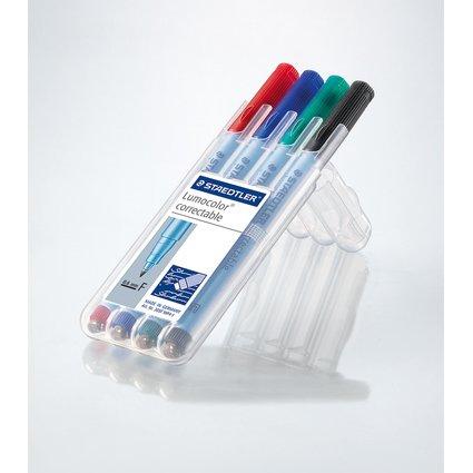STAEDTLER Lumocolor correctable NonPermanent-Marker 305F,4er