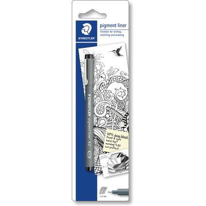 STAEDTLER Pigmentliner, Strichstärke: 0,2 mm, Blisterkarte