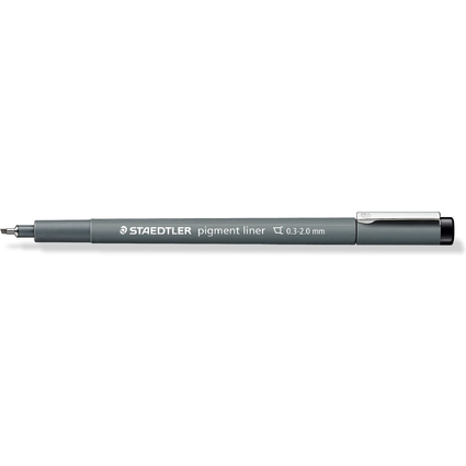 STAEDTLER Pigmentliner, schwarz, Keilspitze, 0,3 - 3,00 mm