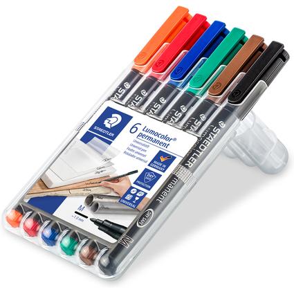 STAEDTLER Lumocolor Permanent-Marker 317M, 6er Etui