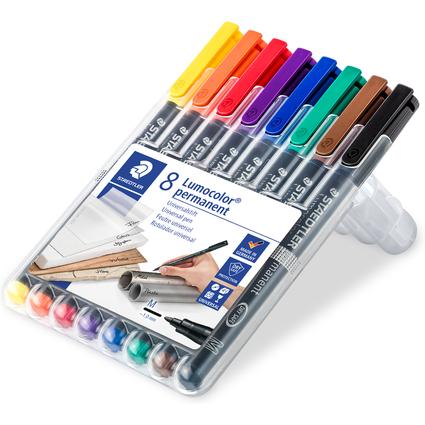 STAEDTLER Lumocolor Permanent-Marker 317M, 8er Etui
