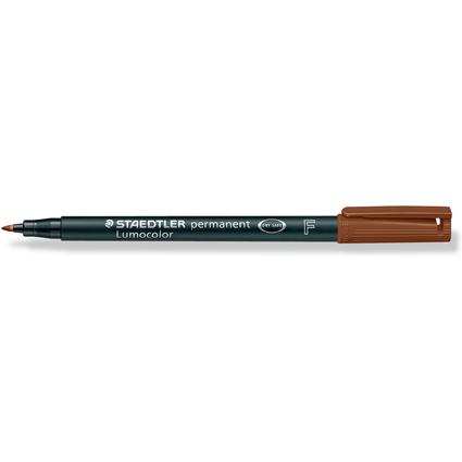 STAEDTLER Lumocolor Permanent-Marker 318F, braun, (318-7)