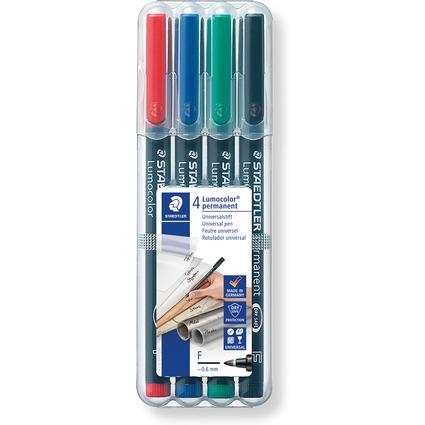 STAEDTLER Lumocolor Permanent-Marker 318F, 4er Etui