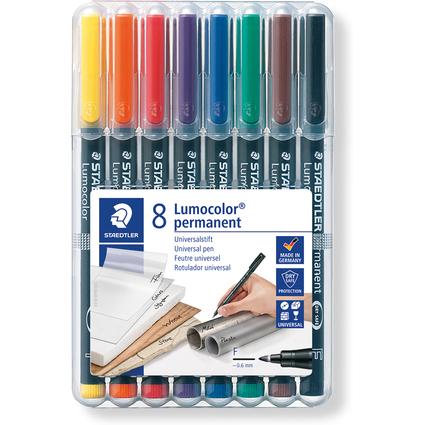 STAEDTLER Lumocolor Permanent-Marker 318F, 8er Etui