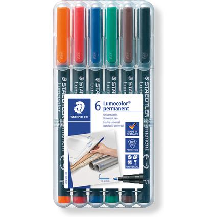 STAEDTLER Lumocolor Permanent-Marker 318F, 6er Etui