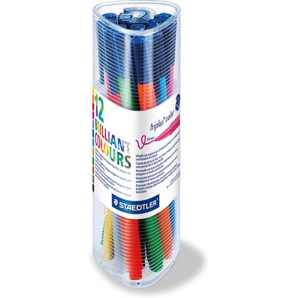 STAEDTLER Fasermaler triplus color, 12er Dreikantbox