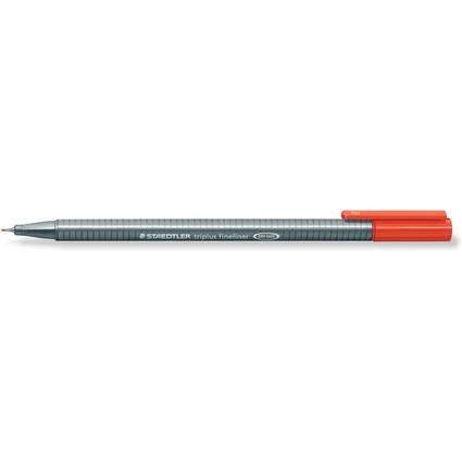 STAEDTLER Fineliner triplus, rot, Strichstärke: 0,3 mm