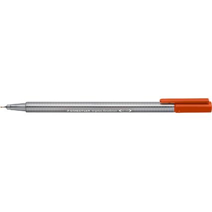 STAEDTLER Fineliner triplus, kalahari orange, Stärke: 0,3 mm