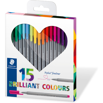 "STAEDTLER Fineliner triplus BRILLIANT COLOURS ""HEART"""