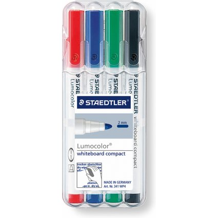 STAEDTLER Lumocolor Whiteboard Marker, 4er Set